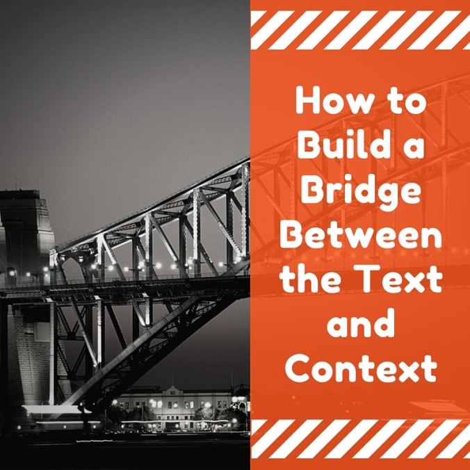 How to Build a Bridge Between the Text and Context